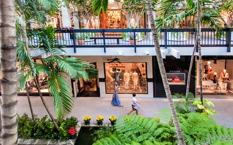 Shopping Bal Harbour Shops em Miami