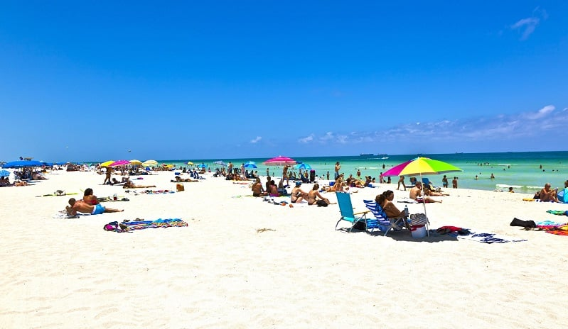 Visita as praias de Miami