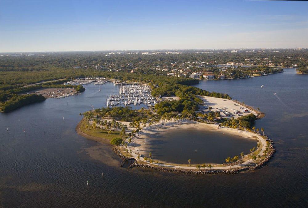 Praia do Matheson Hammock Park Miami
