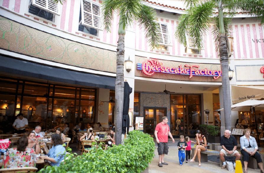 Praça de alimentação do Shopping Aventura Mall em Miami