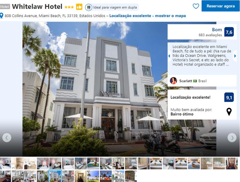 Fachada do Whitelaw Hotel and Lounge em Miami