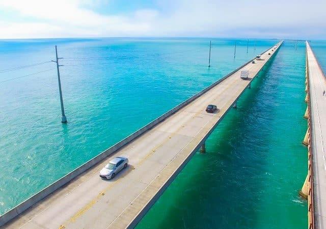 Viagem de carro de Miami a Ilha Key West