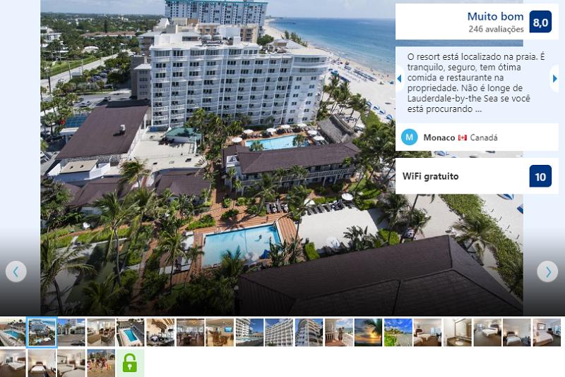 Hotel Beachcomber Resort & Villas em Fort Lauderdale visto de cima