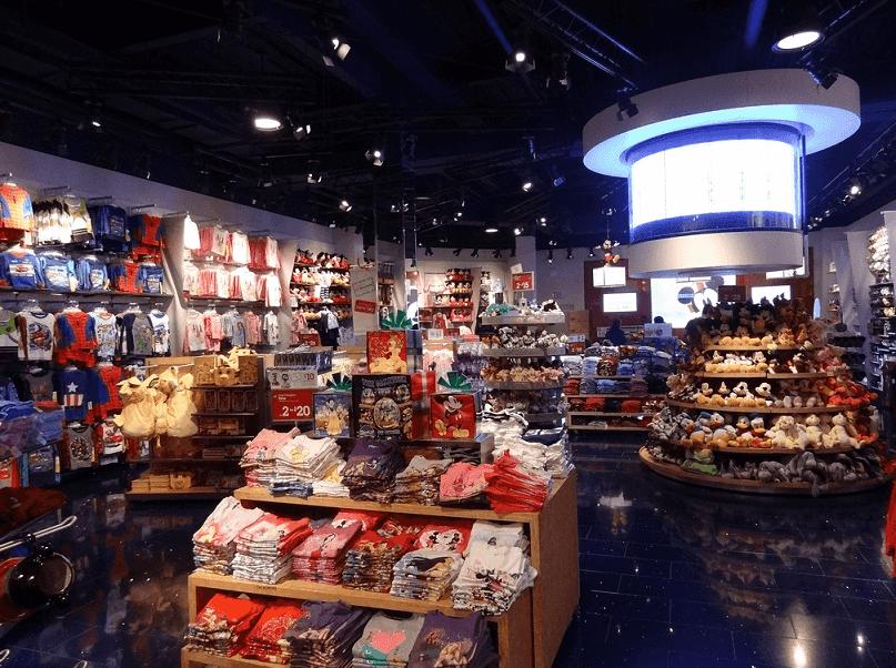 Compras nas lojas Disney Store em Miami