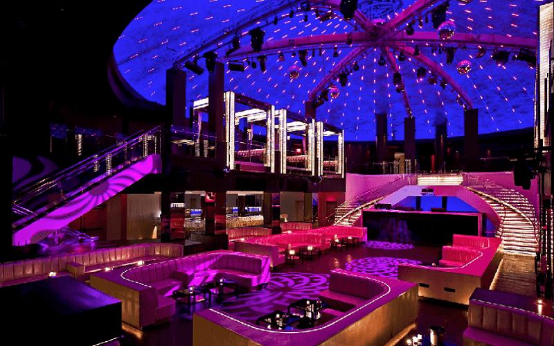 Estrutura da balada LIV Nightclub em Miami