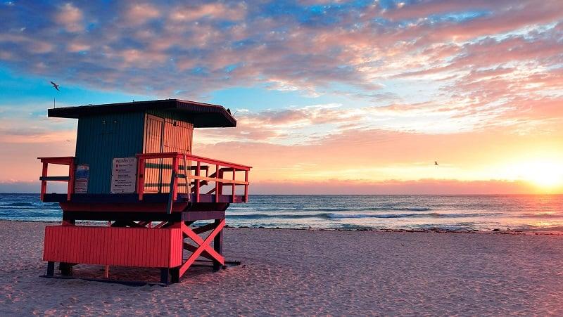 Movimentação de turistas em Miami em setembro