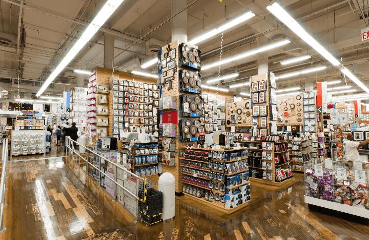 Mercadorias na loja Bed, Bath & Beyond em Miami