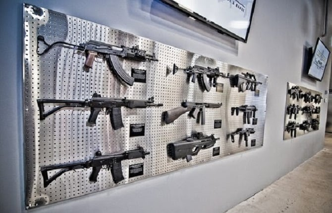 Armas para tiros na Lock and Load em Miami