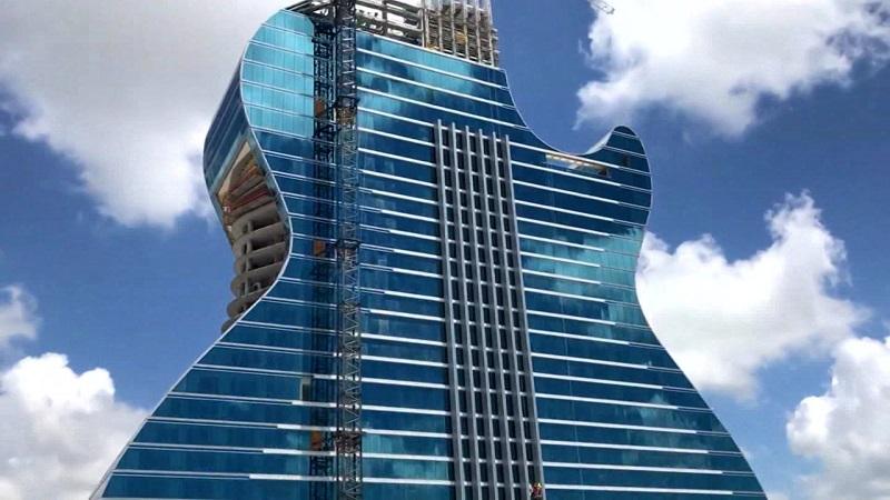 Guitarra do Hard Rock Hotel Cassino em Miami