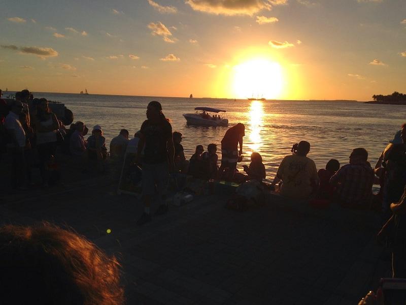 Mallory Square em Key West em uma viagem romântica