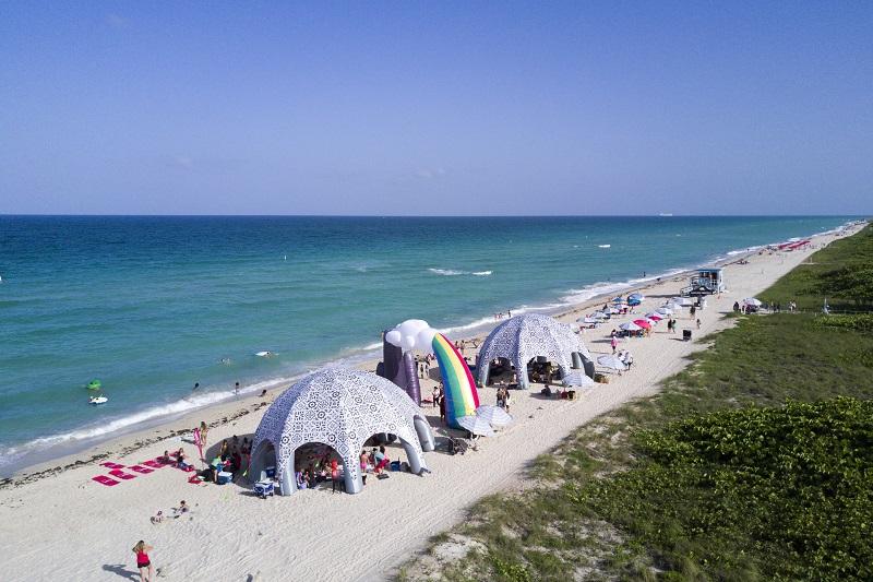 Praia Surfside para surfar em Miami