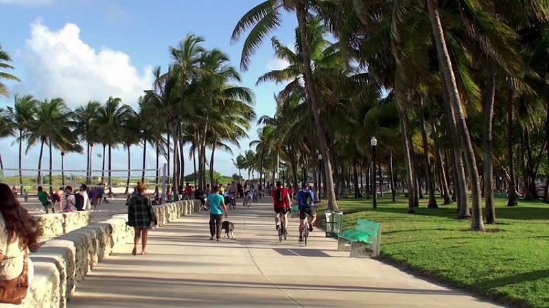 Boardwalk para correr e fazer exercícios em Miami