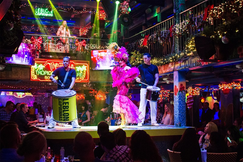 Show na balada Mango's Tropical Cafe em Miami Beach