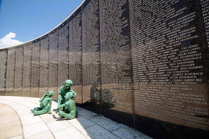 Monumentos no Holocaust Memorial em Miami Beach