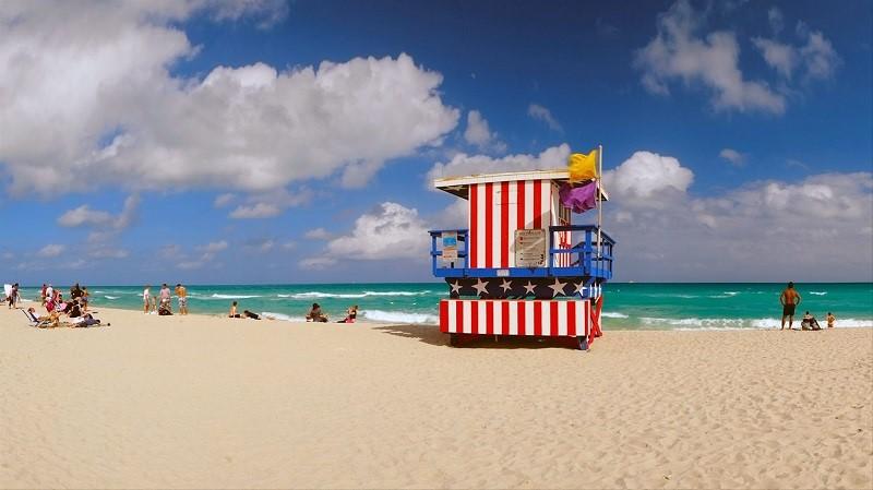 Praia em Lummus Park em Miami Beach