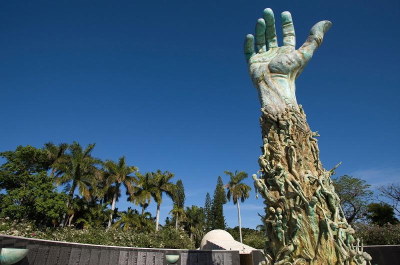 Principal obra do Holocaust Memorial em Miami Beach