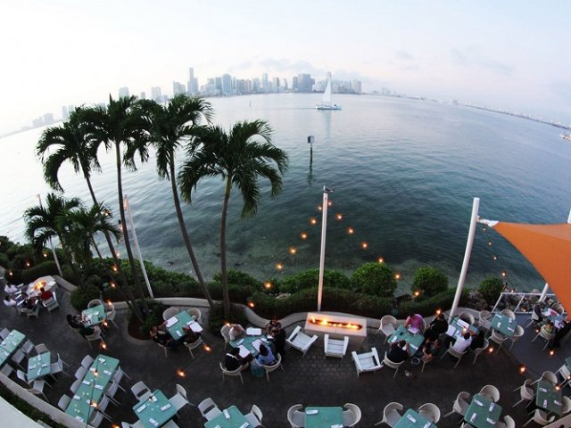 Restaurante Rusty Pelican em Key Biscayne Miami