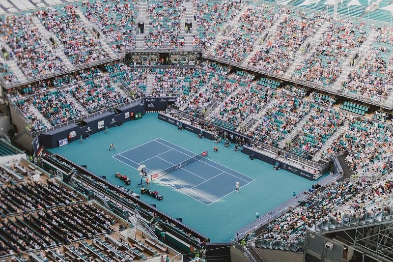 Jogos de tênis na Miami Open Tennis em Miami