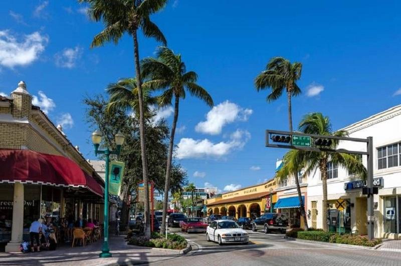 Atlantic Avenue em Delray Beach em Miami