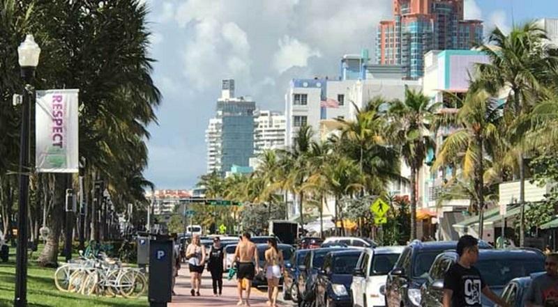 Collins Avenue em South Beach em Miami