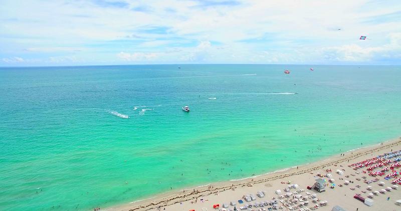 Praias em South Beach em Miami