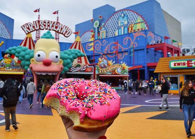 Donuts rosa em Springfield no Universal Studios