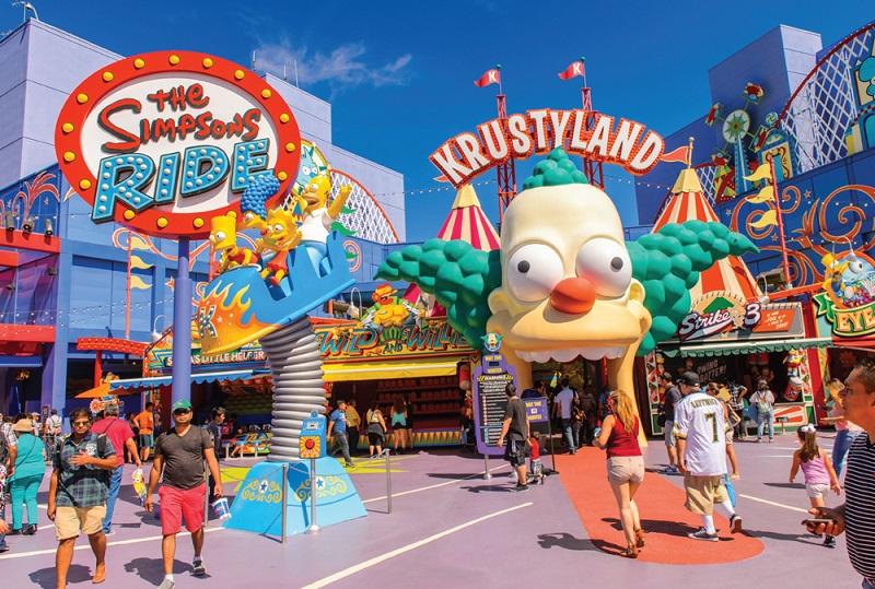 O incrível brinquedo dos Simpsons em Orlando no Universal Studios