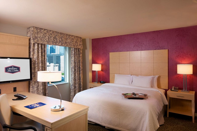 Quarto do hotel Hampton Inn & Suites by Hilton Miami Downtown/Brickell