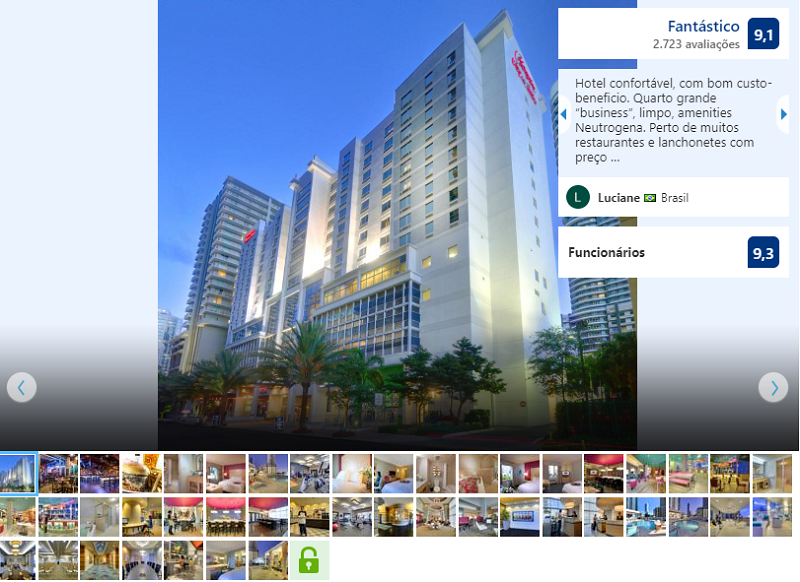 Fachada do hotel Hampton Inn & Suites by Hilton Miami Downtown/Brickell